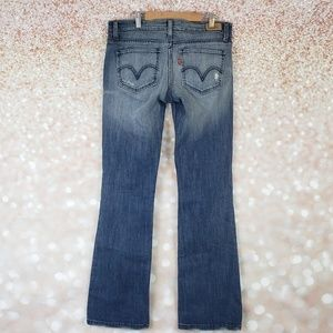 Levis 524 Too Superlow Jeans Size 9 Distressed
